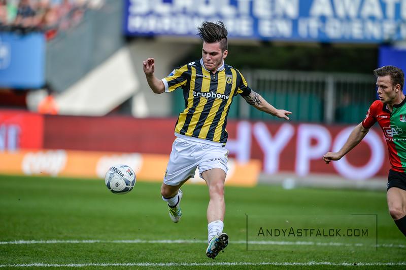 03-04-2016: Voetbal: NEC v Vitesse: Nijmegen   Nathan de Souza of Vitesse  Fotograaf Andy Astfalck  Eredivisie Seizoen 2015-2016 NEC v Vitesse