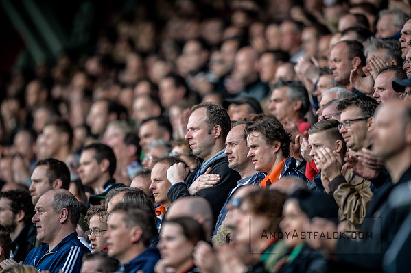 03-04-2016: Voetbal: NEC v Vitesse: Nijmegen   NEC fans.  Fotograaf Andy Astfalck  Eredivisie Seizoen 2015-2016 NEC v Vitesse