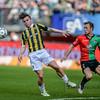 03-04-2016: Voetbal: NEC v Vitesse: Nijmegen <br /> <br /> Nathan de Souza of Vitesse, Todd Kane of NEC<br /> <br /> Fotograaf Andy Astfalck<br /> <br /> Eredivisie Seizoen 2015-2016<br /> NEC v Vitesse