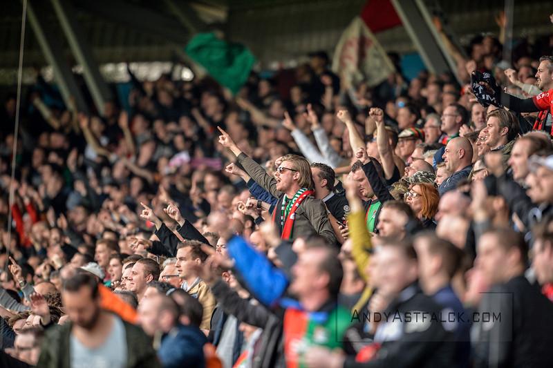 03-04-2016: Voetbal: NEC v Vitesse: Nijmegen   NEC Fans  Fotograaf Andy Astfalck  Eredivisie Seizoen 2015-2016 NEC v Vitesse