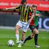 03-04-2016: Voetbal: NEC v Vitesse: Nijmegen <br /> <br /> Nathan de Souza of Vitesse, Todd Kane of NEC<br /> Fotograaf Andy Astfalck<br /> <br /> Eredivisie Seizoen 2015-2016<br /> NEC v Vitesse