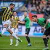 03-04-2016: Voetbal: NEC v Vitesse: Nijmegen <br /> Guram Kashia of Vitesse and Dario Dumic of NEC<br /> <br /> Fotograaf Andy Astfalck<br /> <br /> Eredivisie Seizoen 2015-2016<br /> NEC v Vitesse
