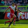 10-04-2016: Voetbal: FC Utrecht v NEC: Utrecht<br /> <br /> Ramon Leeuwin from Utrecht and Anthony Limbombe from NEC<br /> <br /> Fotograaf Andy Astfalck<br /> Eredivisie seizoen 2015/2016 Utrecht-NEC