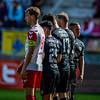 10-04-2016: Voetbal: FC Utrecht v NEC: Utrecht<br /> <br /> Willem Janssen from Utrecht, stand in the wall, with Navarone Foor, Mihai Roman, Rens Van Eijden and Anthony Limbombe from NEC<br /> <br /> Fotograaf Andy Astfalck<br /> Eredivisie seizoen 2015/2016 Utrecht - NEC