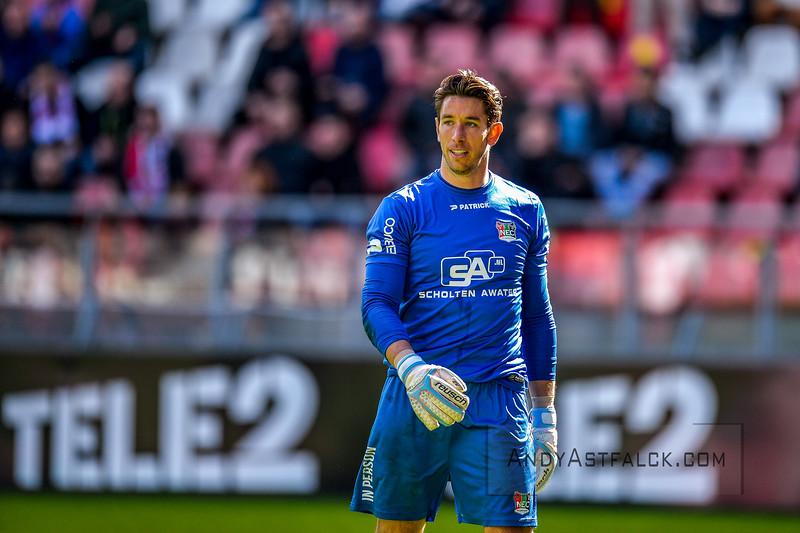 10-04-2016: Voetbal: FC Utrecht v NEC: Utrecht  Brad Jones from NEC   Fotograaf Andy Astfalck Eredivisie seizoen 2015/2016 Utrecht - NEC