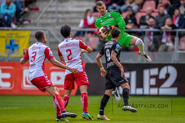 10-04-2016: Voetbal: FC Utrecht v NEC: Utrecht  Filip Bednarek, Mark van der Maarel, Ramon Leeuwin from Utrecht, and Joey Sleegers from NEC  Fotograaf Andy Astfalck Eredivisie seizoen 2015/2016 Utrecht - NEC