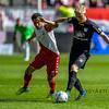 10-04-2016: Voetbal: FC Utrecht v NEC: Utrecht<br /> <br /> Lucas Woudenberg from NEC and Mark van der Maarel from Utrecht<br /> <br /> Fotograaf Andy Astfalck<br /> Eredivisie seizoen 2015/2016 Utrecht - NEC