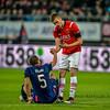 02-04-2016: Voetbal: AZ v PSV: Alkmaar<br /> <br /> Jeffrey Bruma and Markus Henriksen<br /> <br /> Fotograaf Andy Astfalck<br /> <br /> Eredivisie AZ Alkmaar vs PSV Eindhoven