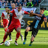 20-04-2016: Voetbal: FC Utrecht v De Graafschap: Utrecht<br /> <br /> Sebastian Haller from Utrecht and Ted van de Pavert from de Graafschap<br /> Copyright Orange Pictures / Andy Astfalck<br /> <br /> Eredivisie seizoen 2015/2016 Utrecht - de Graafschap