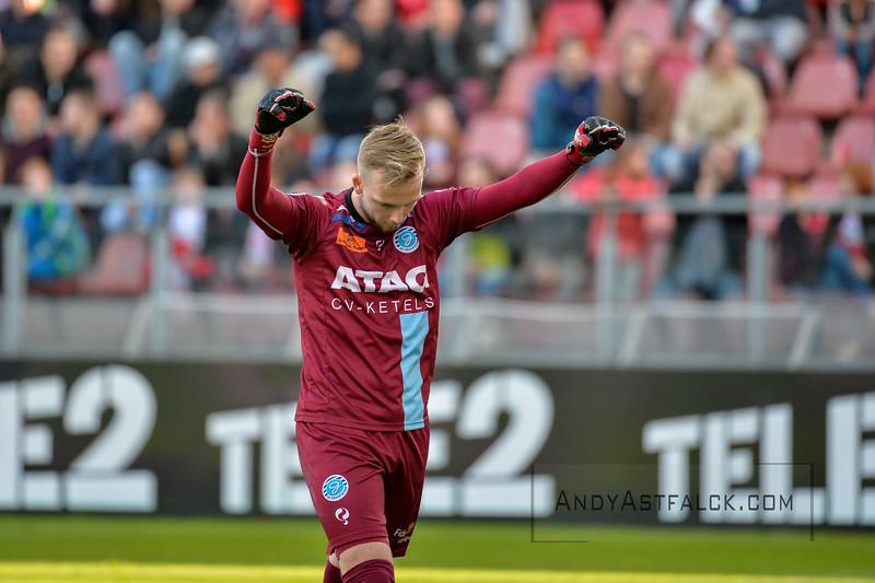 20-04-2016: Voetbal: FC Utrecht v De Graafschap: Utrecht  Hidde Jurjus from de Graafschap celebrates the second goal.  Copyright Orange Pictures / Andy Astfalck  Eredivisie seizoen 2015/2016 Utrecht - de Graafschap