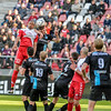 20-04-2016: Voetbal: FC Utrecht v De Graafschap: Utrecht<br /> <br /> Sebastian Haller from Utrecht and Tolgahan Cicek from de Graafschap<br /> <br /> Copyright Orange Pictures / Andy Astfalck<br /> <br /> Eredivisie seizoen 2015/2016 Utrecht - de Graafschap