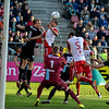 20-04-2016: Voetbal: FC Utrecht v De Graafschap: Utrecht<br /> <br /> Ramon Leeuwin from Utrecht heads the ball towards goal<br /> <br /> Copyright Orange Pictures / Andy Astfalck<br /> <br /> Eredivisie seizoen 2015/2016 Utrecht - de Graafschap