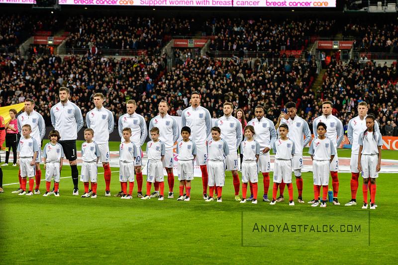 29-03-2016: Voetbal: Engeland v Nederland: Londen  England Team  Fotograaf Andy Astfalck
