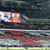 29-03-2016: Voetbal: Engeland v Nederland: Londen<br /> England Fans create a flag<br /> <br /> Fotograaf Andy Astfalck