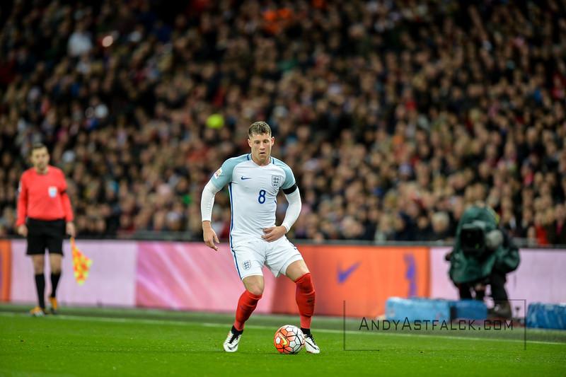 29-03-2016: Voetbal: Engeland v Nederland: Londen  Ross Barkley from England  Fotograaf Andy Astfalck