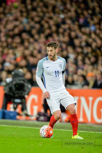29-03-2016: Voetbal: Engeland v Nederland: Londen Adam Lallana from England  Fotograaf Andy Astfalck
