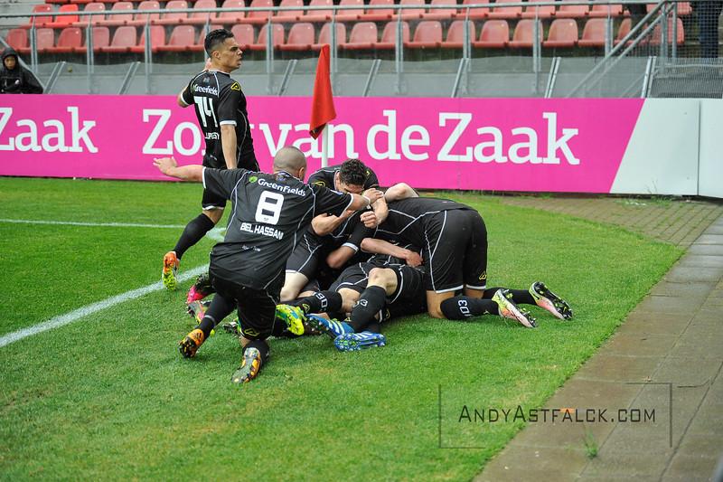 22-05-2016: Voetbal: FC Utrecht v Heracles Almelo: Utrecht  Heracles Almelo celebrate  Copyright Orange Pictures / Andy Astfalck  Eredivisie seizoen 2015/2016 Utrecht - Heracles Almelo