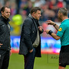 22-05-2016: Voetbal: FC Utrecht v Heracles Almelo: Utrecht<br /> <br /> John Stegeman trainer from Heracles Almelo is sent off<br /> <br /> Copyright Orange Pictures / Andy Astfalck<br /> <br /> Eredivisie seizoen 2015/2016 Utrecht - Heracles Almelo
