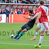 Davy Propper from PSV shoots and scores PSV's fist goal to level the score with Utrecht (1-1) early in the second half during the Dutch Eredivisie Football match between FC Utrecht and PSV Eindhoven at Stadion Galgenwaard in Utrecht on August 6, 2016.