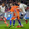 Netherlands  v Italy - International Friendly<br /> Roberto Gagliardini from Italy passes the ball to Leonardo Spinazzola from Italy during the friendly match between Netherlands and Italy on March 28, 2017 at the Amsterdam ArenA in Amsterdam, Netherlands.