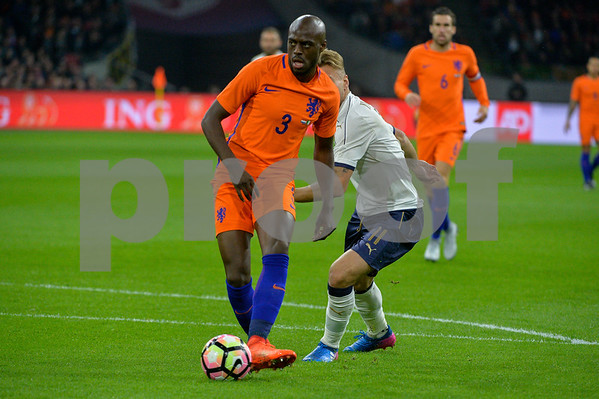 Netherlands  v Italy - International Friendly Bruno Martins Indi from the Netherlands during the friendly match between Netherlands and Italy on March 28, 2017 at the Amsterdam ArenA in Amsterdam, Netherlands.