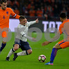 Netherlands  v Italy - International Friendly<br /> Marco Verratti from Italy is challenged by (L) Kevin Strootman and ® Kenny Tete from the Netherlands during the friendly match between Netherlands and Italy on March 28, 2017 at the Amsterdam ArenA in Amsterdam, Netherlands.