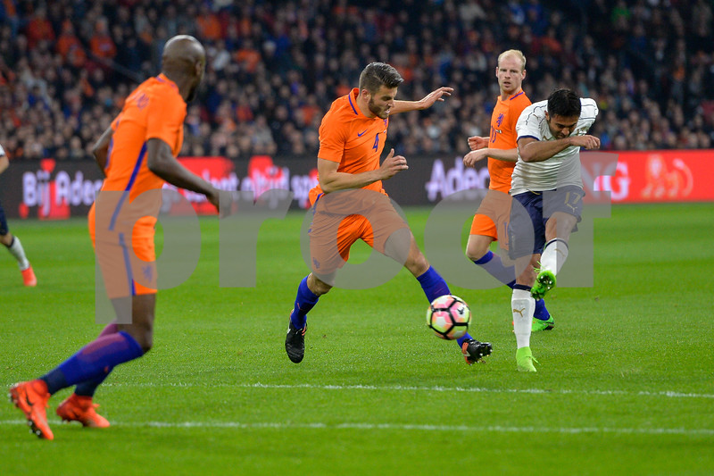 Netherlands  v Italy - International Friendly During the friendly match between Netherlands and Italy on March 28, 2017 at the Amsterdam Arena in Amsterdam, Netherlands.