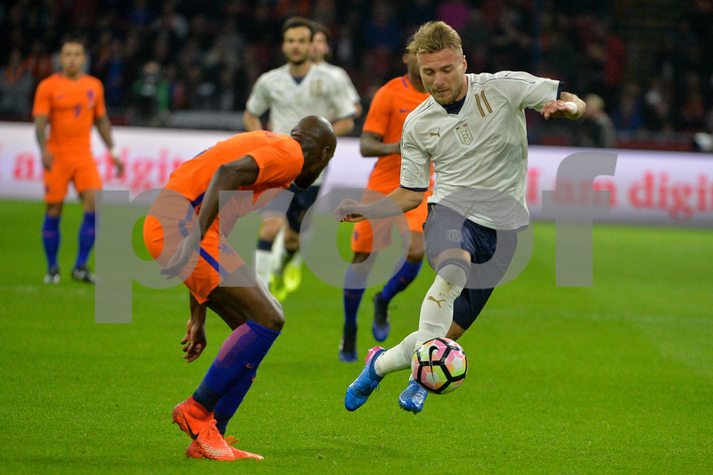 Netherlands  v Italy - International Friendly Ciro Immobile from Italy during the friendly match between Netherlands and Italy on March 28, 2017 at the Amsterdam ArenA in Amsterdam, Netherlands.