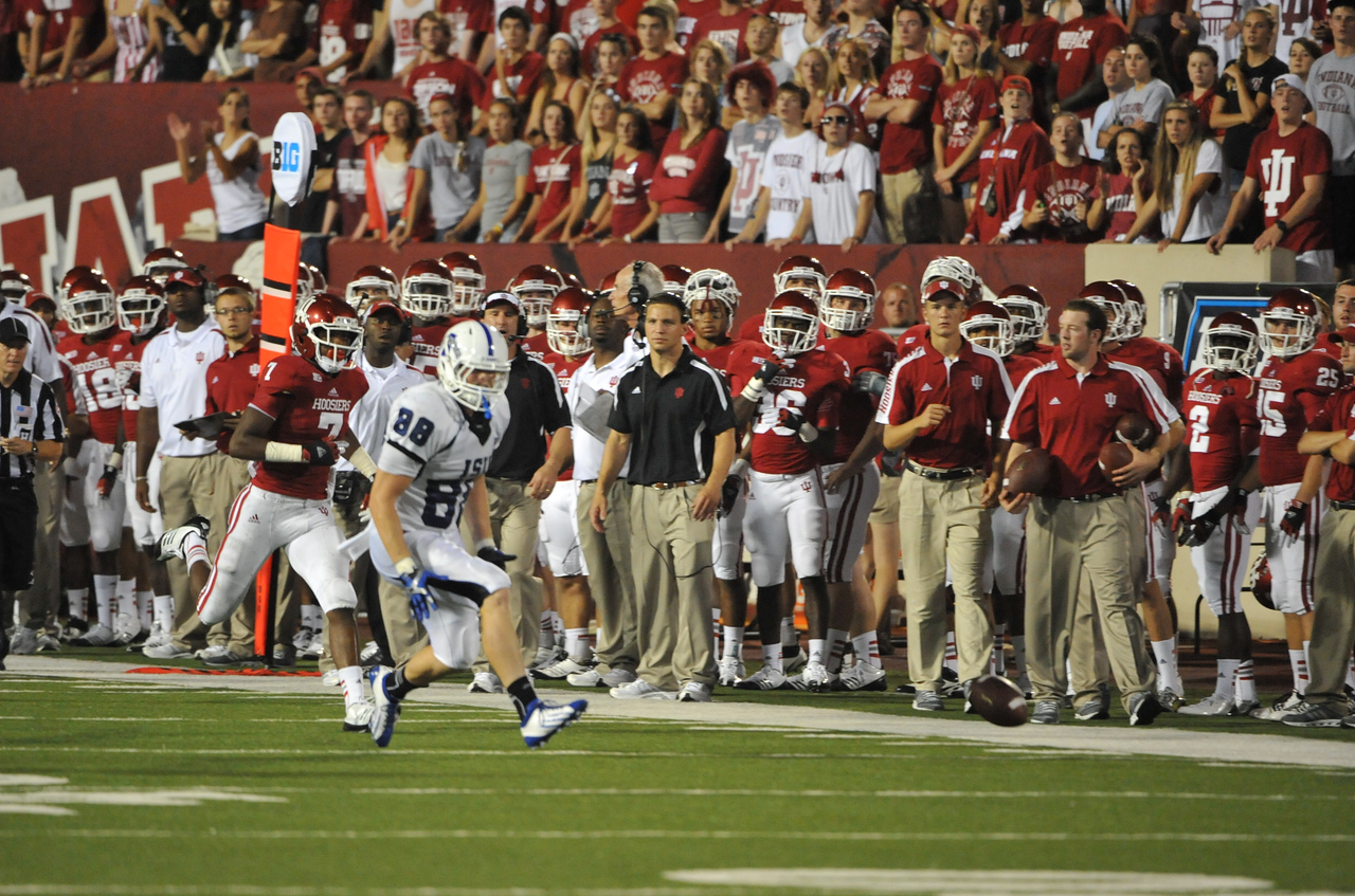 Indiana State University faces IU at memorial stadium in Bloomington to kick off 2012 season