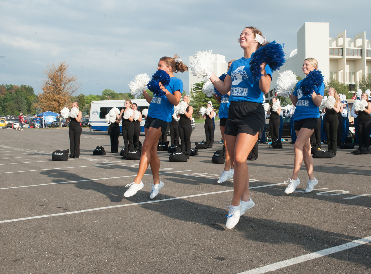 Sycamore fans tailgate before the start of the IU-ISU game at Memorial Stadium in Bloomington to kick of the 2012 season