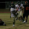 Sierra Pacfic RB DeAreon Willis rushes the football against Woodlake on Friday, November 1, 2013.