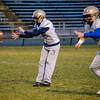 St. Bernard's quarterback Cooper Bigelow practices on Friday evening ahead of Saturday's state final Super Bowl at Gillette Stadium. SENTINEL & ENTERPRISE / Ashley Green