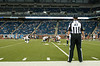 Sep 9, 2012; Detroit, MI, USA; NFL referee Shannon Eastin (27) watches the  St. Louis Rams warm up before the game against the Detroit Lions at Ford Field. Mandatory Credit: Tim Fuller-US PRESSWIRE