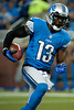 Sep 9, 2012; Detroit, MI, USA; Detroit Lions wide receiver Nate Burleson (13) during the first half against the St. Louis Rams at Ford Field. Mandatory Credit: Tim Fuller-US PRESSWIRE