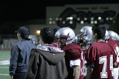 Aaron Bernal on sidelines VS Strathmore JV 10-26-12