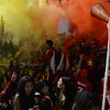 The Chico High student fan section goes crazy as the game begins Thursday, Oct. 21, 2016, at University Stadium in Chico, California. (Dan Reidel -- Enterprise-Record)