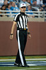 Sep 30, 2012; Detroit, MI, USA; NFL referee Clete Blakeman (34) during the game between the Detroit Lions and the Minnesota Vikings at Ford Field. Mandatory Credit: Tim Fuller-US PRESSWIRE