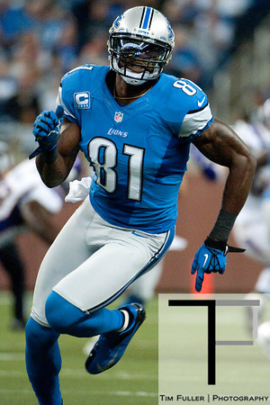 Sep 30, 2012; Detroit, MI, USA; Detroit Lions wide receiver Calvin Johnson (81) during the game against the Minnesota Vikings at Ford Field. Mandatory Credit: Tim Fuller-US PRESSWIRE