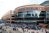 Sep 30, 2012; Detroit, MI, USA; A general view of fans outside Ford Field before the game between the Detroit Lions and the Minnesota Vikings. Mandatory Credit: Tim Fuller-US PRESSWIRE