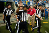 Sep 30, 2012; Detroit, MI, USA; NFL referee Terrence Miles (111) waves as he walks into the field before the game between the Detroit Lions and the Minnesota Vikings at Ford Field. Mandatory Credit: Tim Fuller-US PRESSWIRE