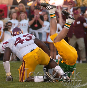 USC football vs. Notre Dame in South Bend. USC won 38-0.