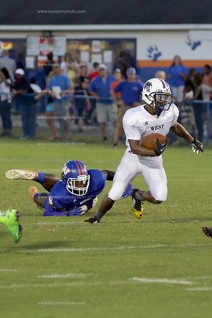 West Bladen vs Whiteville football 2014