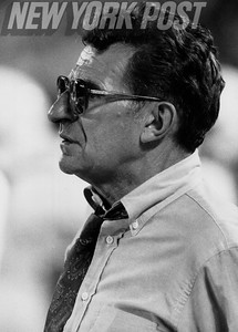 Penn State coach Joe Paterno on game day. 1991