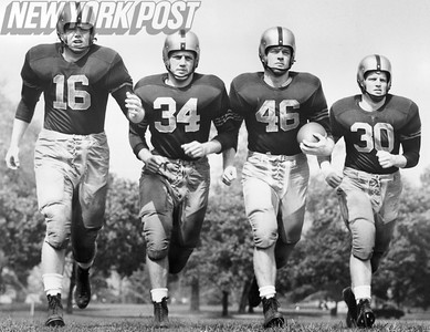 Top 4 Running Backs for the 1953 Army Football Team.