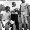 New York Jets Weeb Ewbank at Peekskill grid camp with Henry King and Paul Seiler