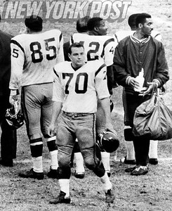 #70 Sam Huff, former NY Giant, smugly satisfied with win! 1965