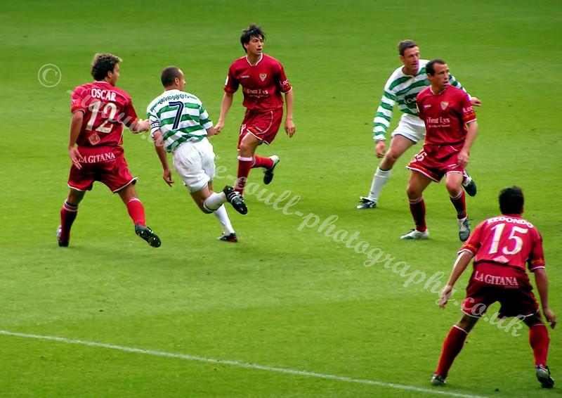 Celtic - Henrik Larsson's farewell game - against Seville