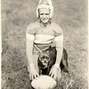 Football Player and Dog (01148)
