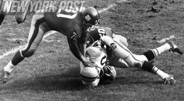Steelers' Preston Carpenter stopped by NY Giants defense! October 14, 1962
