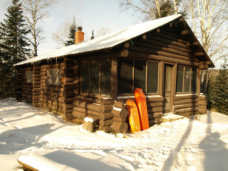 Forest Service cabin that houses summer crews.   We get to use it as a base for trail clearing.